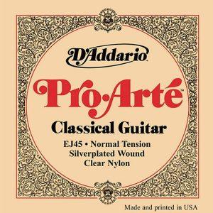 Corzi chitara clasica D'addario EJ45 Pro-Arte Normal Tension