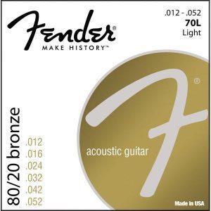 Corzi chitara acustica Fender 70L Bronze 80/20 12-52