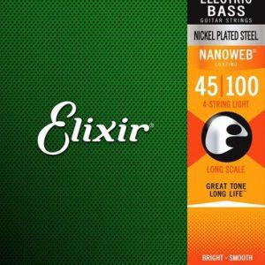 Corzi de chitara bass Elixir Nanoweb Light Bass