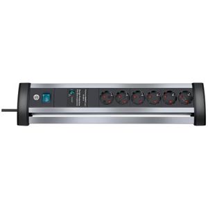 Brennenstuhl Alu-Office-Line 60.000A extension socket 6-way 3 m